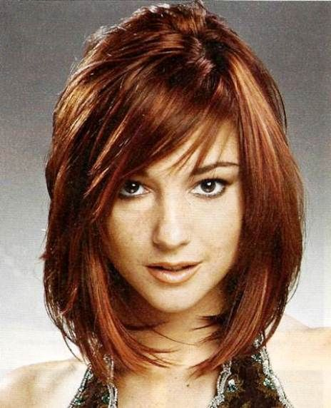 Short Layered Bob Hairstyles With Bangs: Cute Short Layered Bob Hairstyles