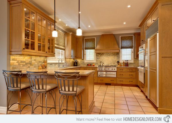 15 lovely and warm country styled kitchen ideas kitchens for Warm kitchen designs