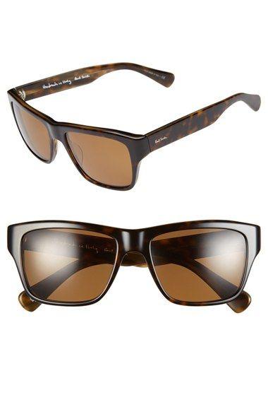 Men's Paul Smith 'Carston' 57mm Polarized Sunglasses - Dark Brown/ Brown