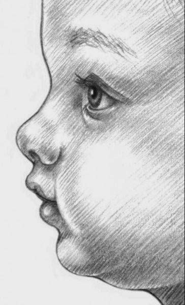 رسم رضيع بقلم الرصاص للمبتدئين Dz Fashion Baby Face Drawing Face Art Painting Art Drawings Simple