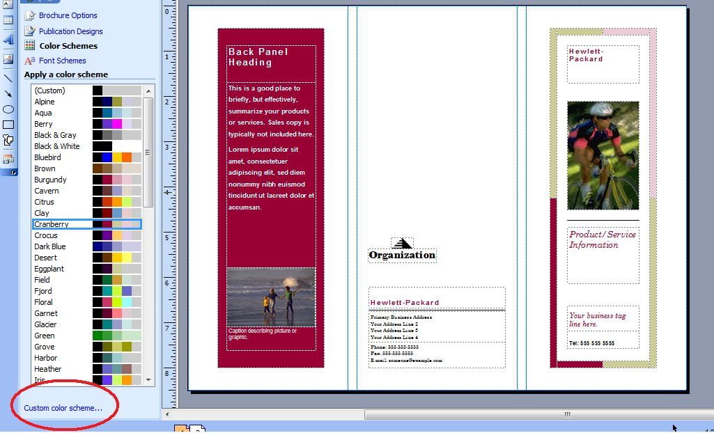 how to create a flyer in word