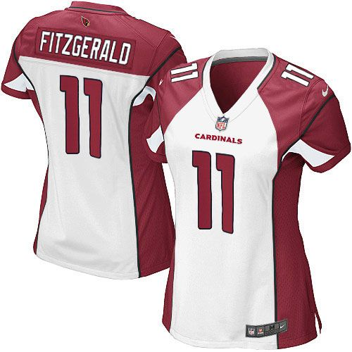 eb8eeea6d Nike Larry Fitzgerald Elite White Road Women's Jersey - NFL Arizona  Cardinals #11
