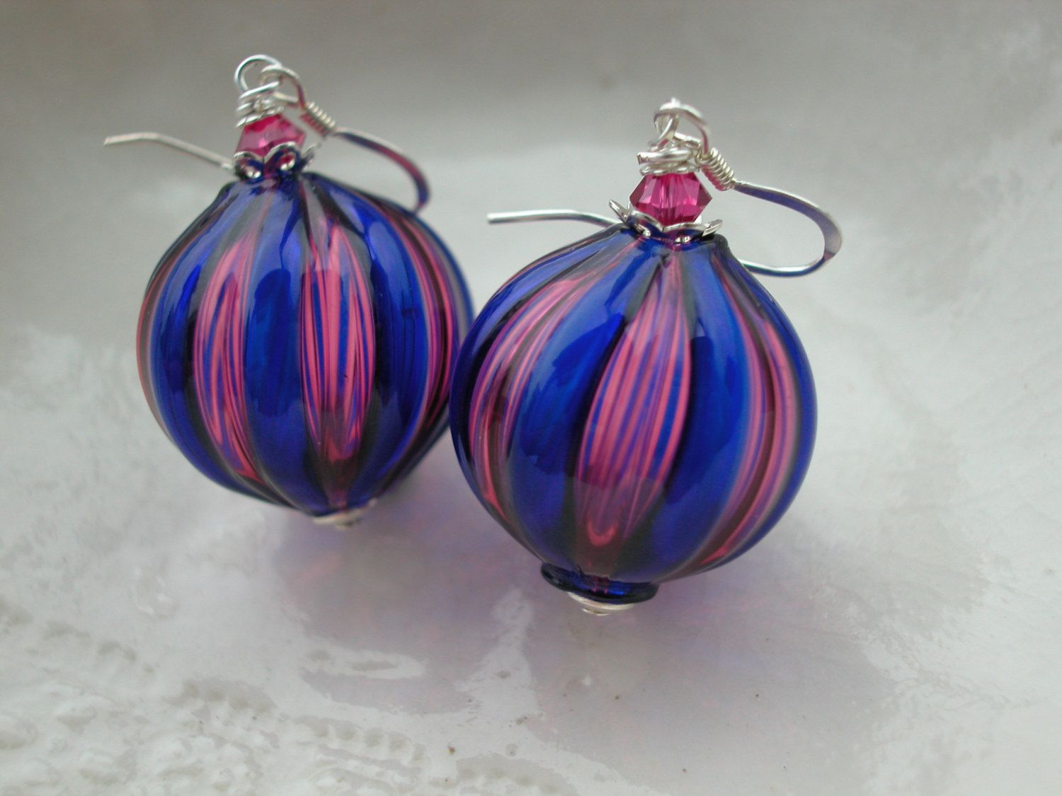 Venetian Murano Blown Glass Earrings by leeski on Etsy https://www.etsy.com/listing/64796023/venetian-murano-blown-glass-earrings