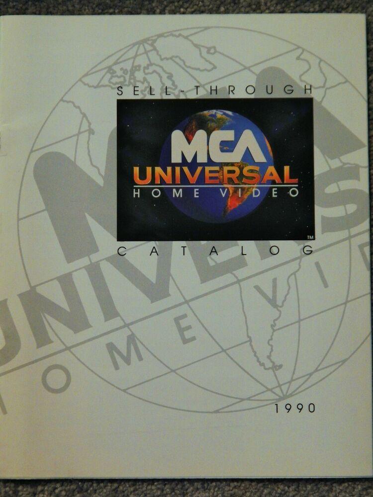 Mca Universal Home Video Catalog 1990 Video Dealer Only Catalog Collectible Boat Dealer Mca Sales Brochures