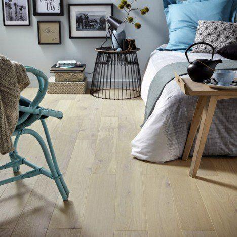 Parquet contrecollé chêne blanchi vitrifié L Aero line home decor - quel revetement de sol exterieur choisir
