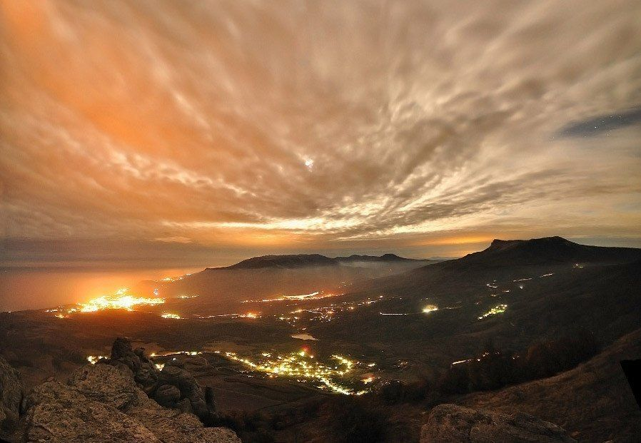 Невероятные краски заката. Фото: 1. Вечерний Крым. Фото ...