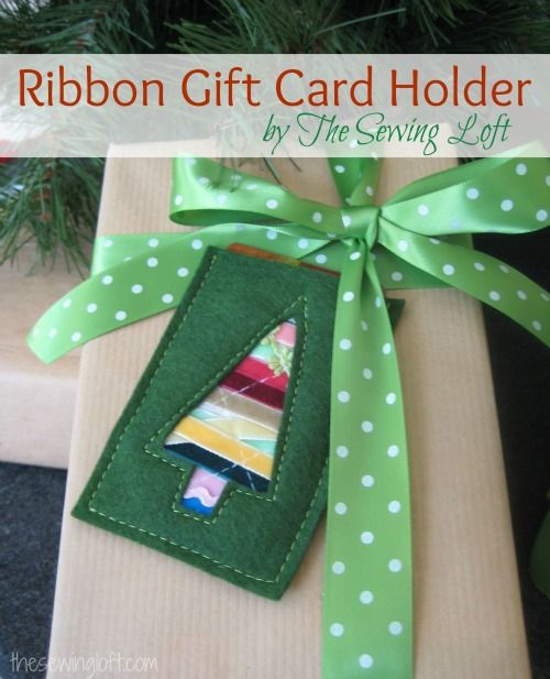 Ribbon Gift Card Holder By Thesewingloft.com Plus Huge Giveaway! #diy  #sewing
