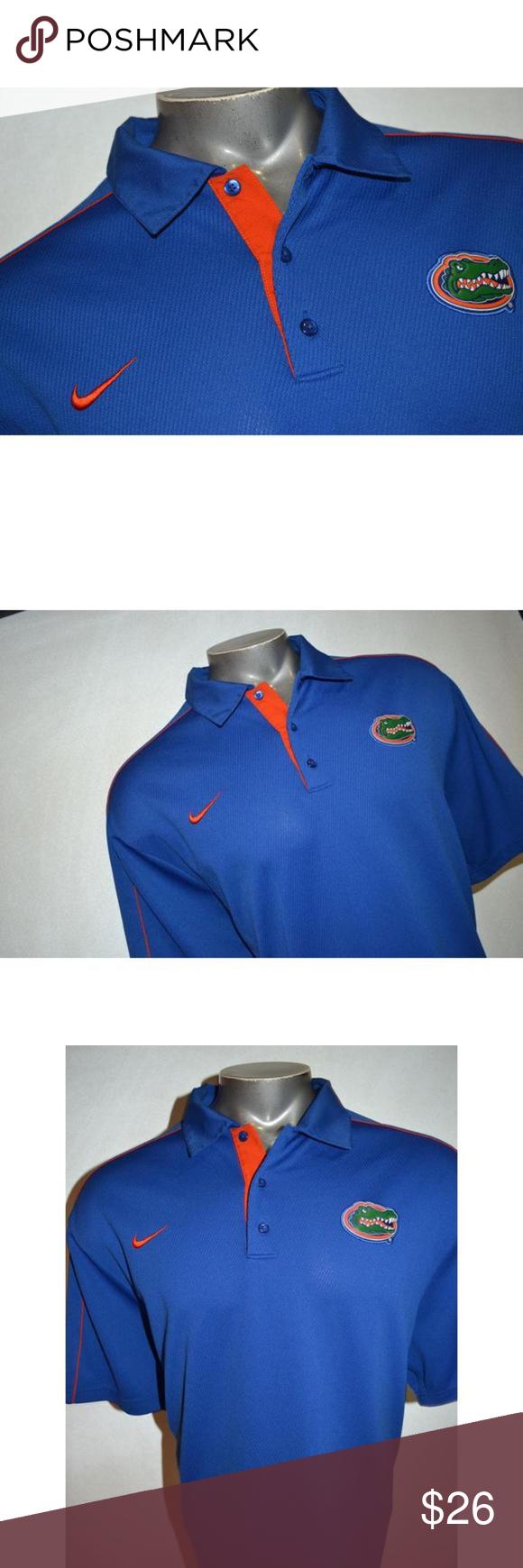 9777 Mens Nike Golf Polo Shirt University Of Uf Golf Polo Shirts