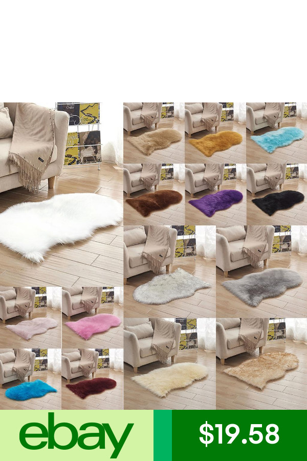 Soft Fluffy Sheepskin Area Rug Carpet Chair Floor Bedside