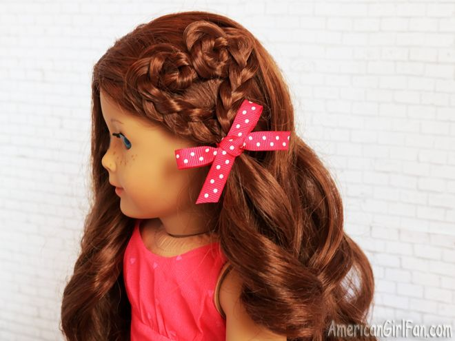 Doll Hairstyles Gorgeous American Girl Doll Hairstyle Heart Braid  Doll Hair 'cause We Care