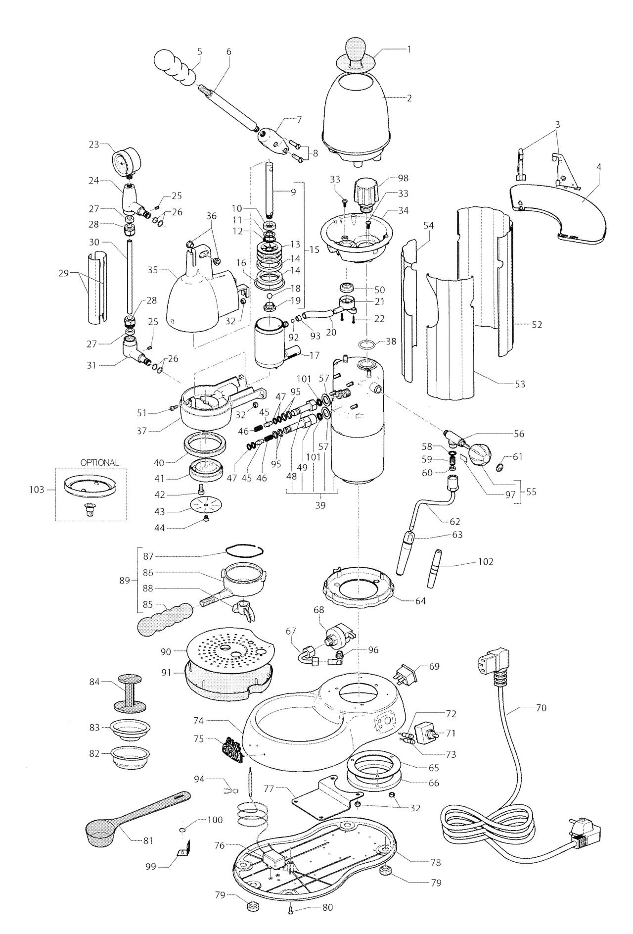 Keurig K150 Parts Diagram
