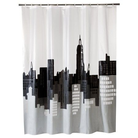 Room Essentials City Scape Shower Curtain Target Modern