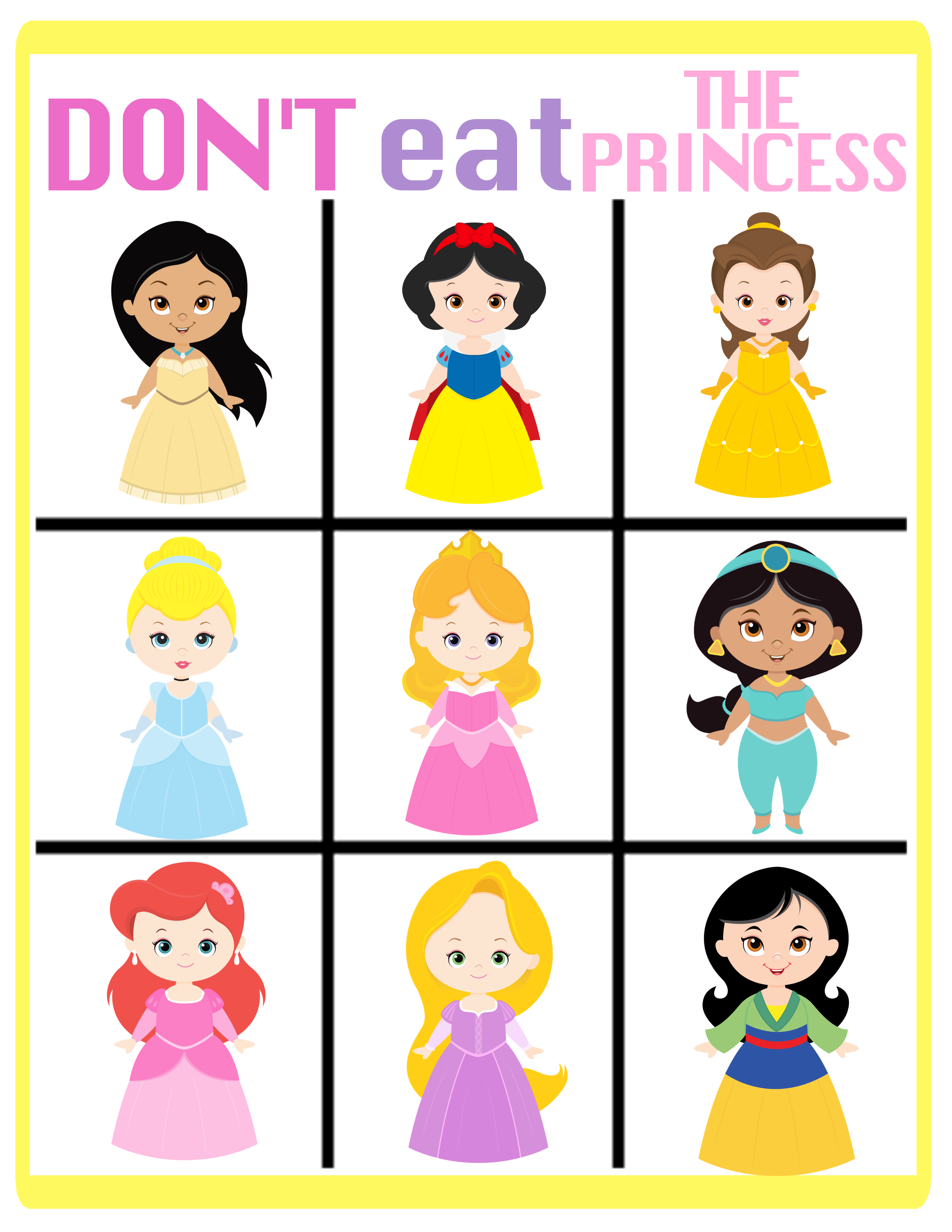 Declarative image intended for the printable princess