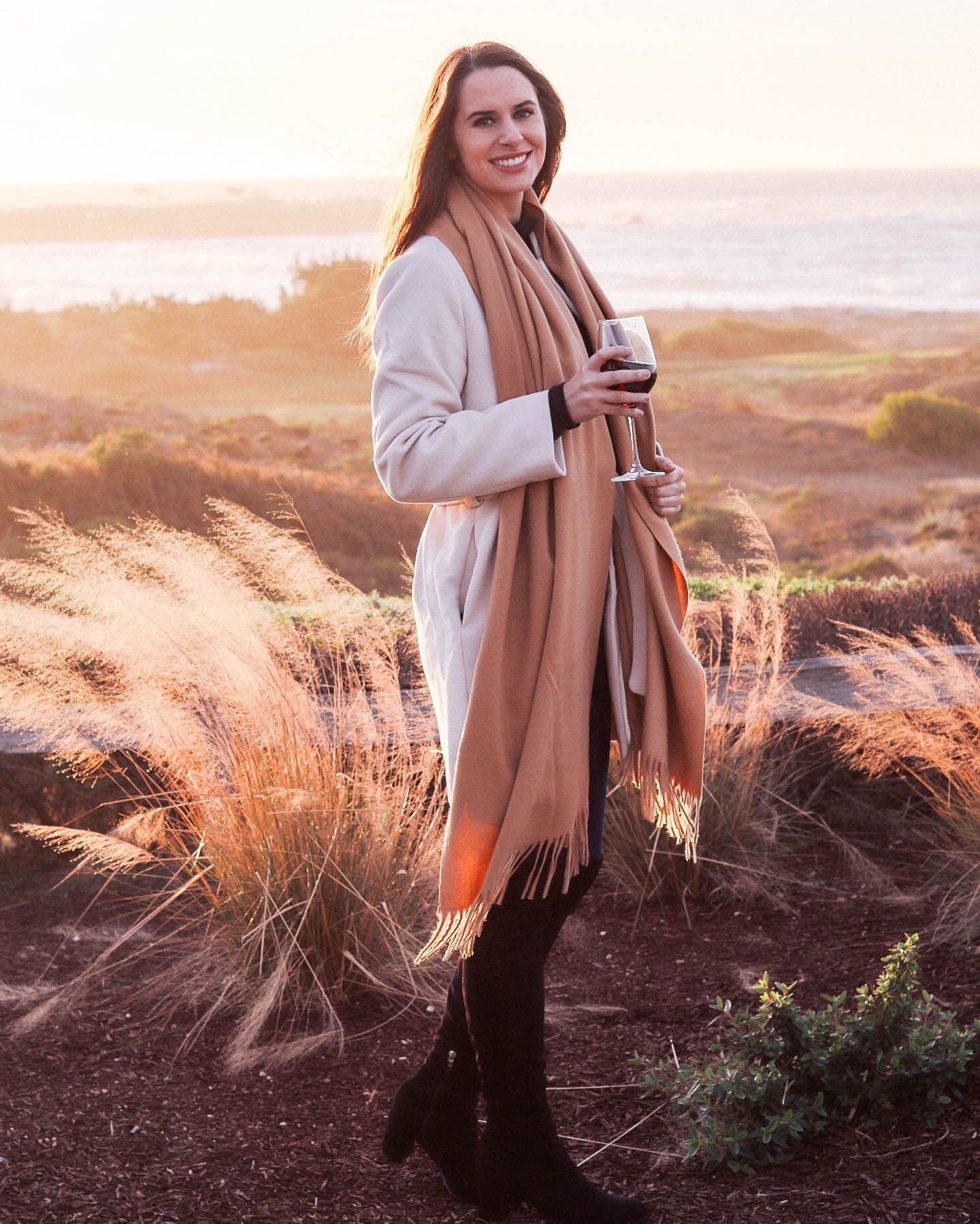 Cheers to the (almost) weekend! I'm so excited for the long weekend! Looking forward to relaxing and watching the NFL Championship games - go @49ers! #winterapparel #winterlooks #winterwardrobe #coldweatherstyle #wintertrends #outfitdiary #stylepost #fashioninspo #fashioninspired #realoutfit #ootdstyle #ootdsubmit #whatimwearing #stylelover #neutraltones #neutralstyle #sfstyle #caliblogger #ilovecalifornia #calilifestyle #californiawinter #travelinspired #traveldames #darlingescape #pebblebeach