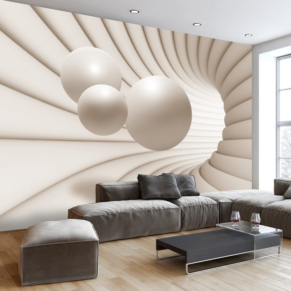 Wall mural balls in the tunnel style home wallart inspiration