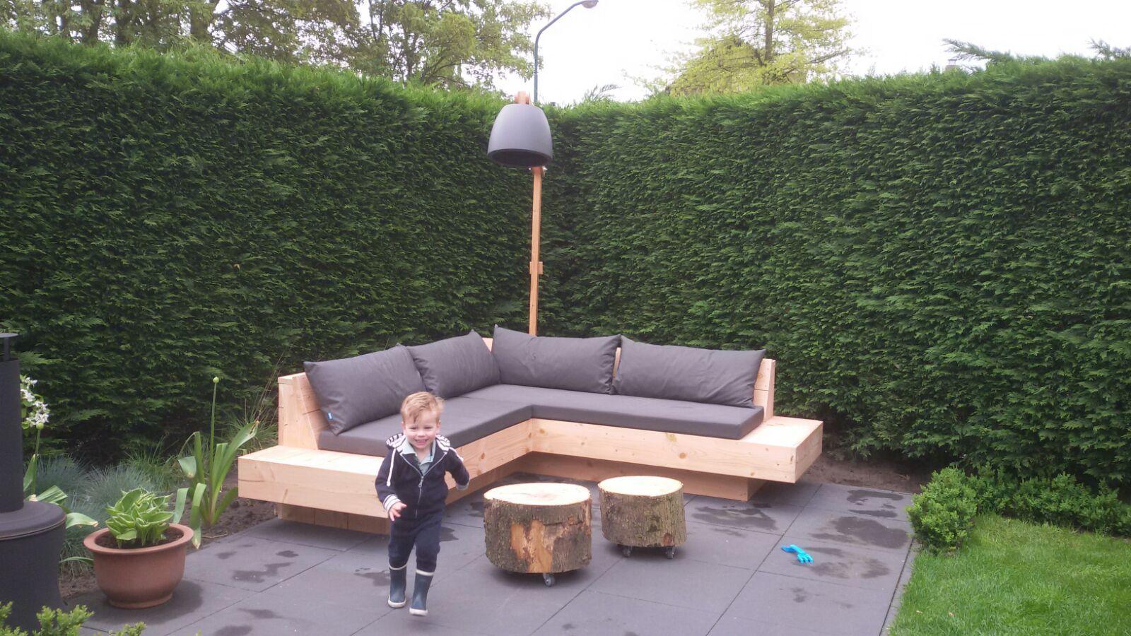 Loungebank Tuin Hout.Loungebank Voor In De Tuin Hoekbank Tuininspiratie Zithoek In