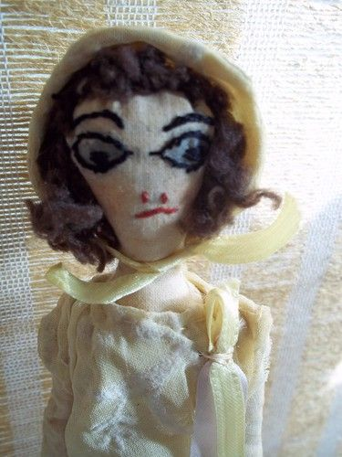 Weird handmade (by a kid?) disturbed doll __ listed as 'boudoir'. ?