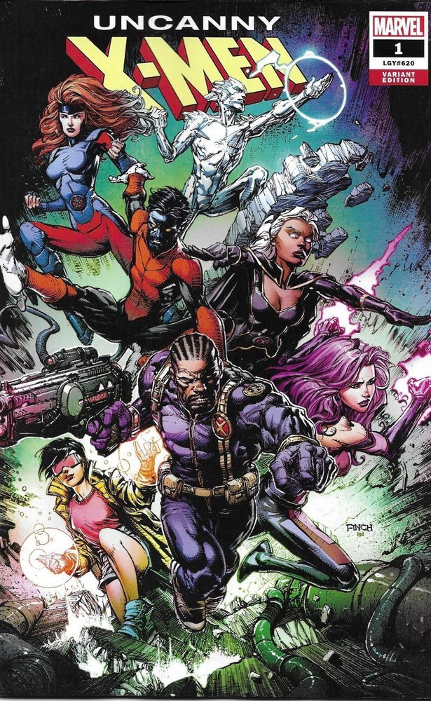 Uncanny X Men Comic Issue 1 Limited Variant Finch Modern Age First Print 2019 Comic Book Covers Comics Comic Art Community