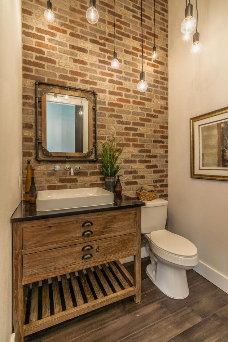 Photo of Exposed Brick Bathroom Ideas You Must See # nailgame #fashiongirls #fas …