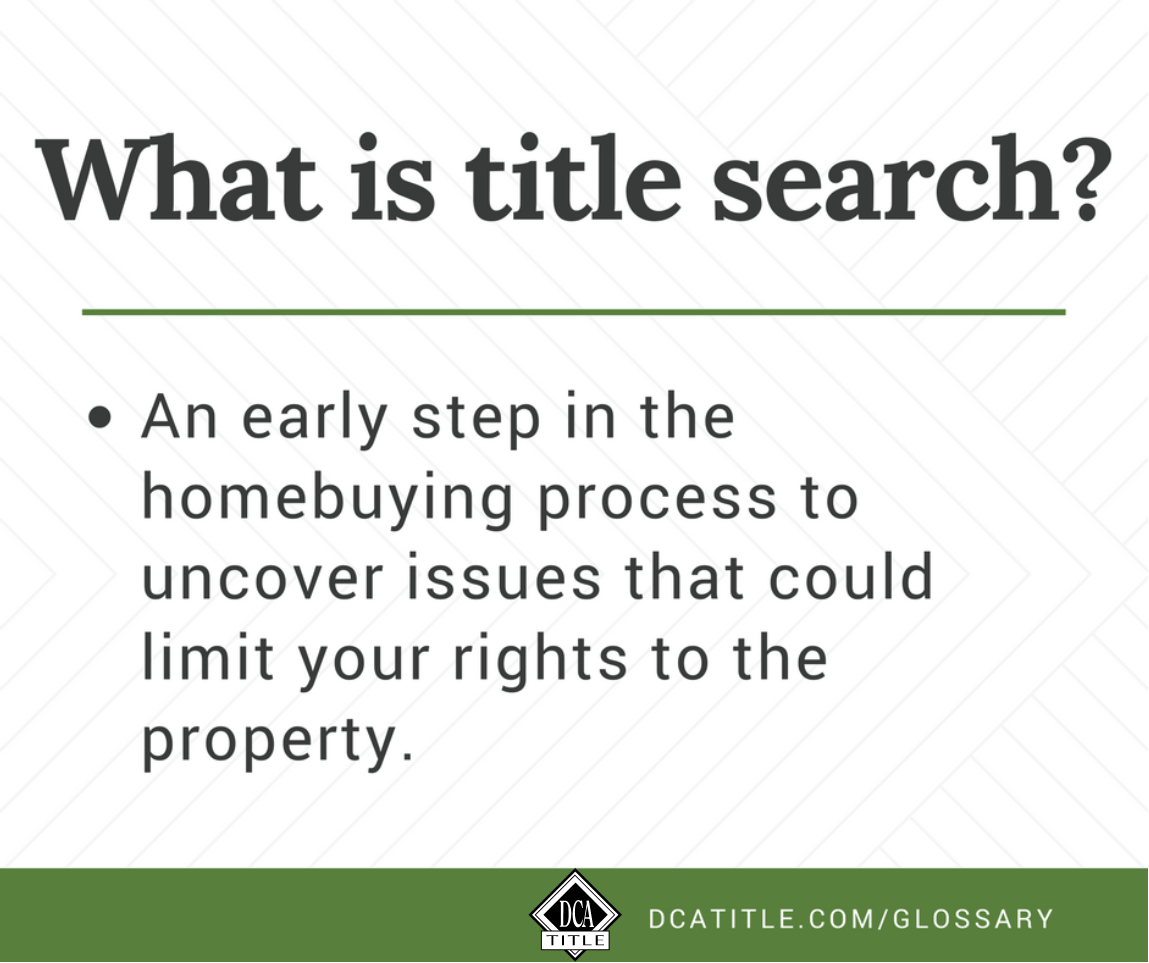 What Is Title Search Definition Title Insurance Real Estate