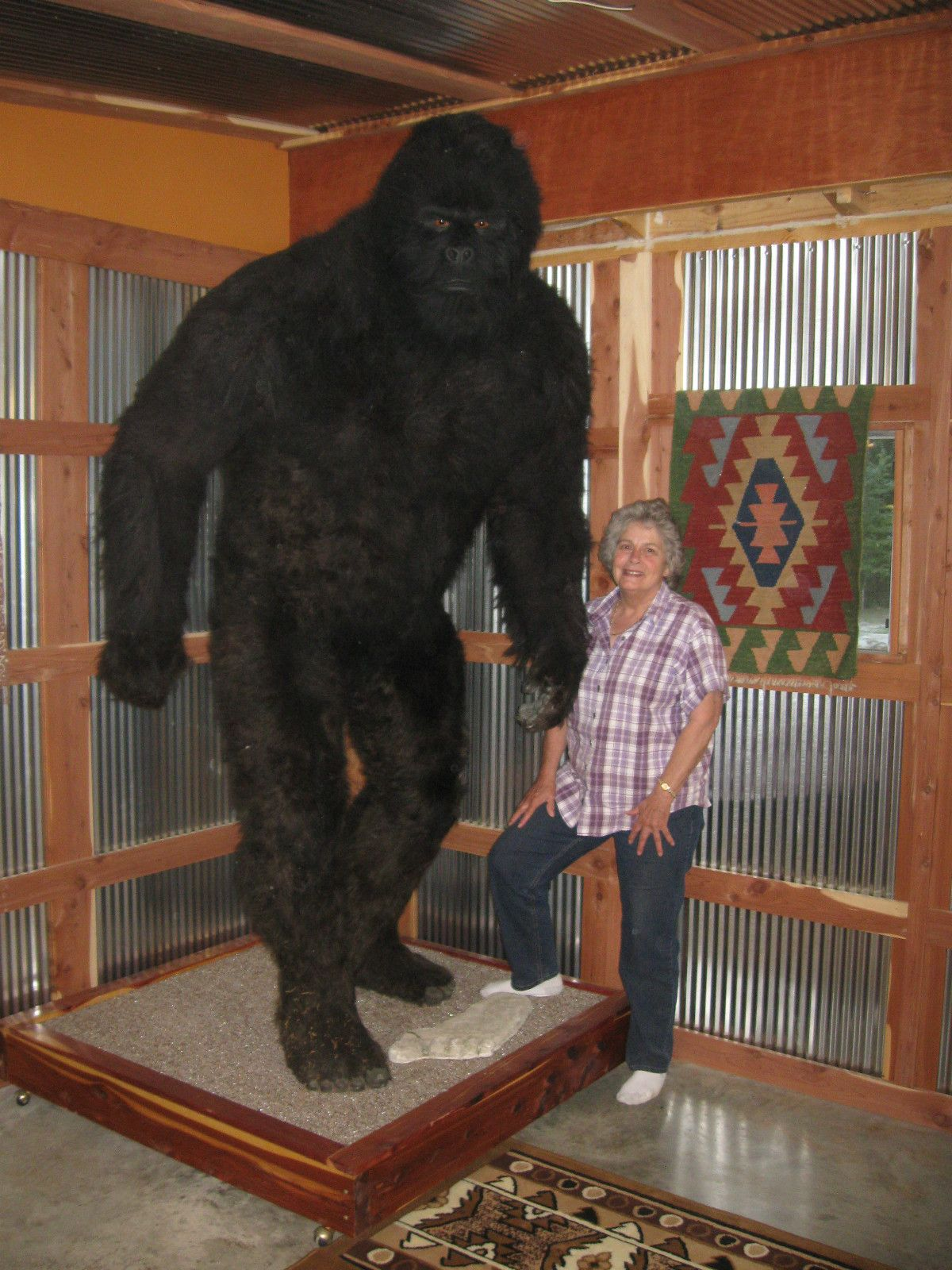 Bigfoot taxidermy  This thing is for sale on ebay  You might