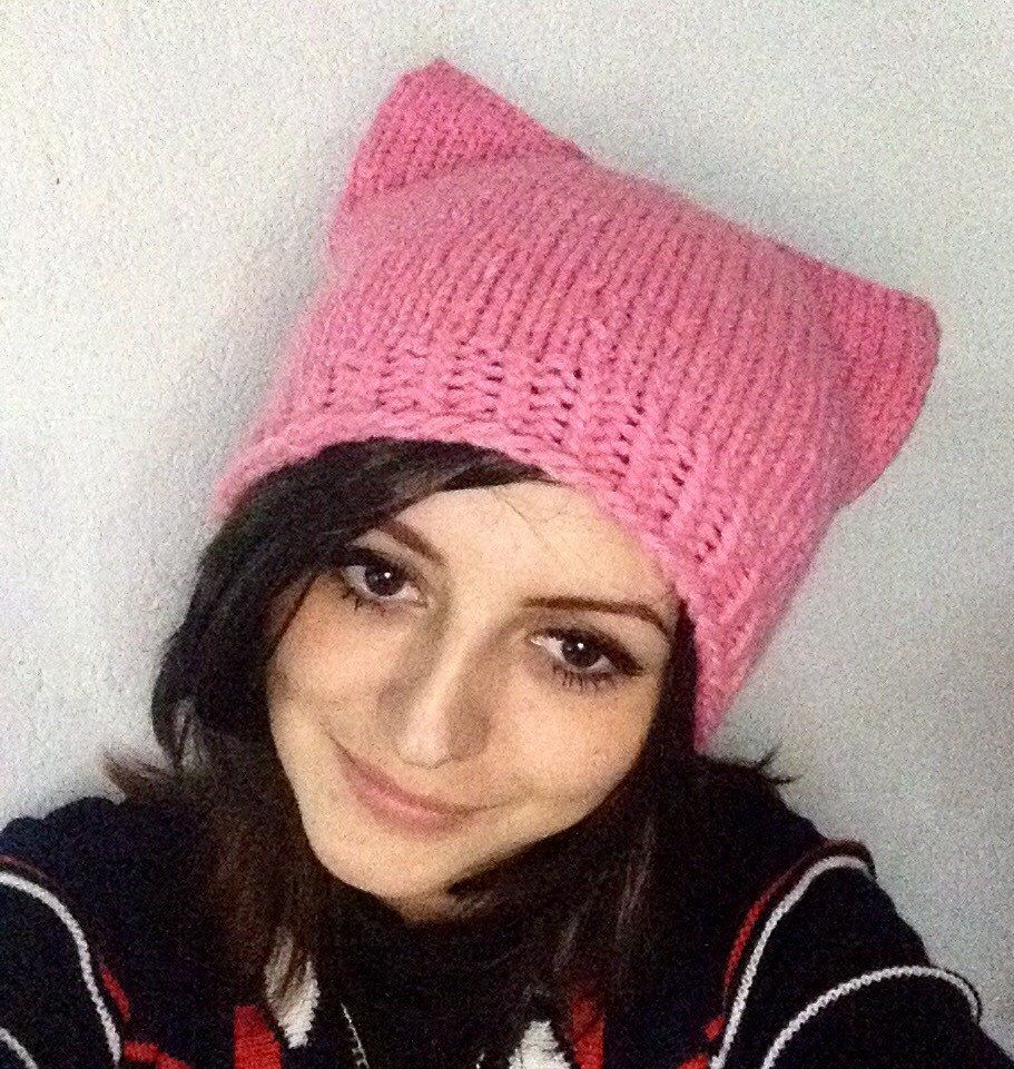A personal favorite from my Etsy shop https://www.etsy.com/listing/507297097/pussyhat-pink-pussyhat-pussycat-hat-knit