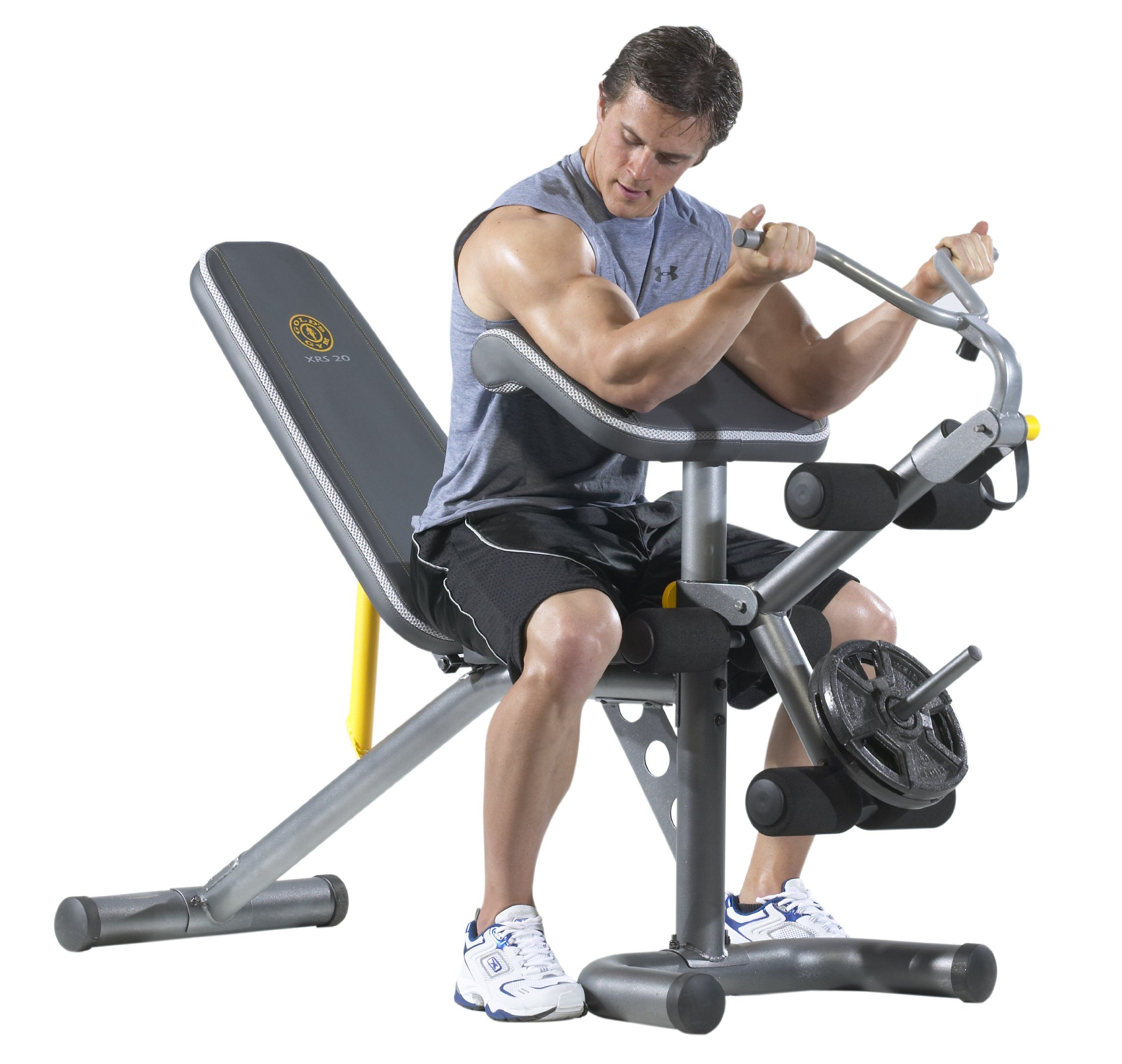Gold S Gym Ggbe1486 Xrs 20 Olympic Bench Preacher Curl And Leg Curl Combo 310 Golds Gym Weight Benches At Home Gym