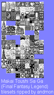 Game Boy Gbc Final Fantasy Legend Tilesets The Spriters
