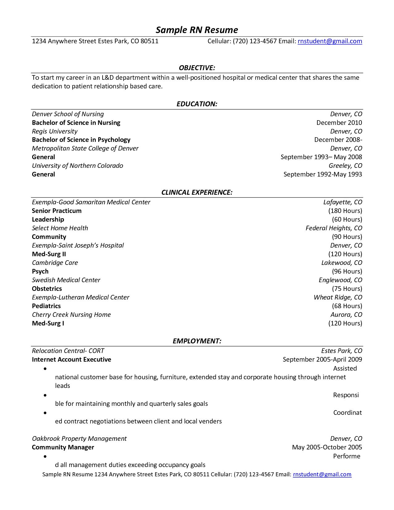 nursing resume volunteer experience