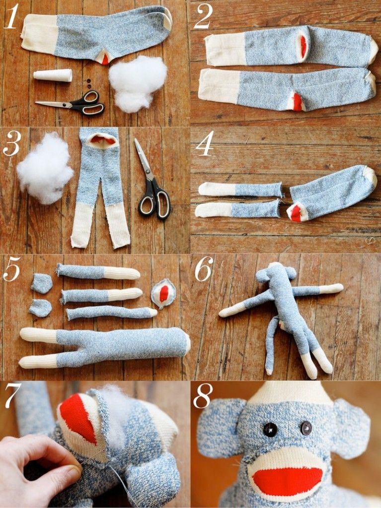 How to make a Sock Monkey | Pinterest | Sockenaffe, Sockentiere und ...