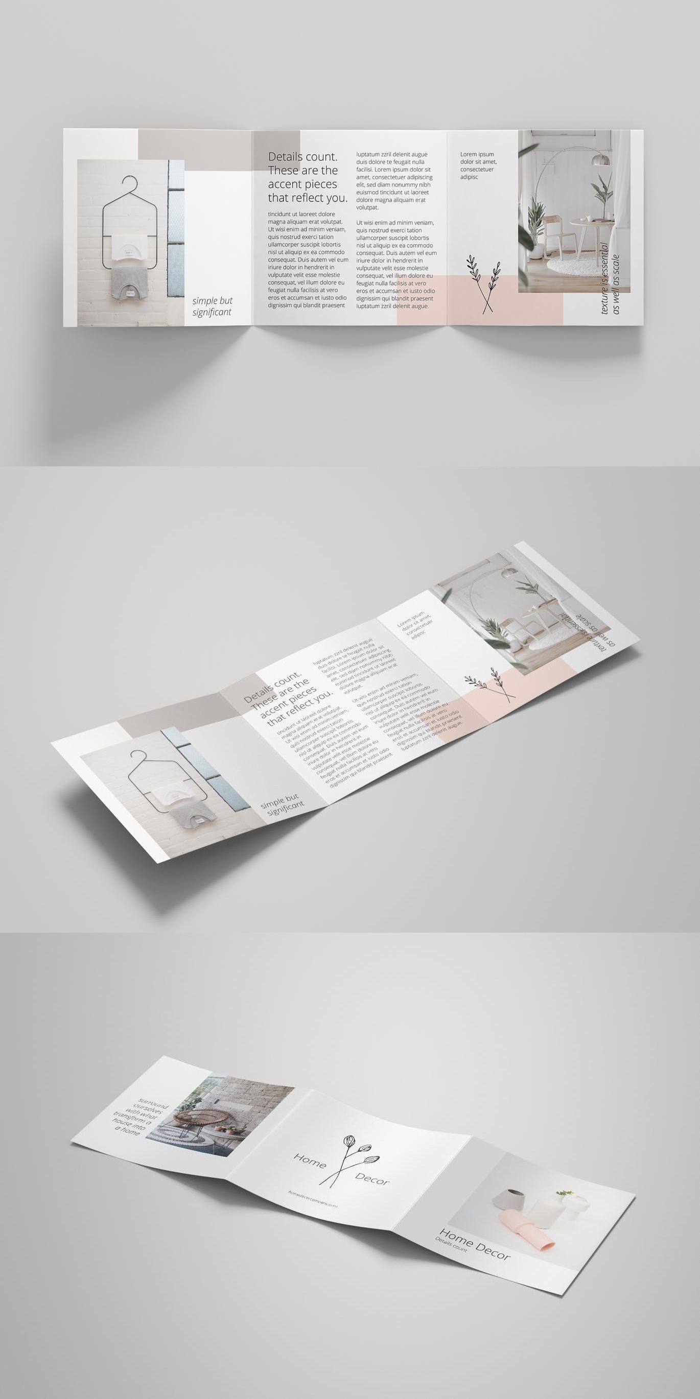 Minimal Brochure Template Adobe Photoshop Adobe Illustrator