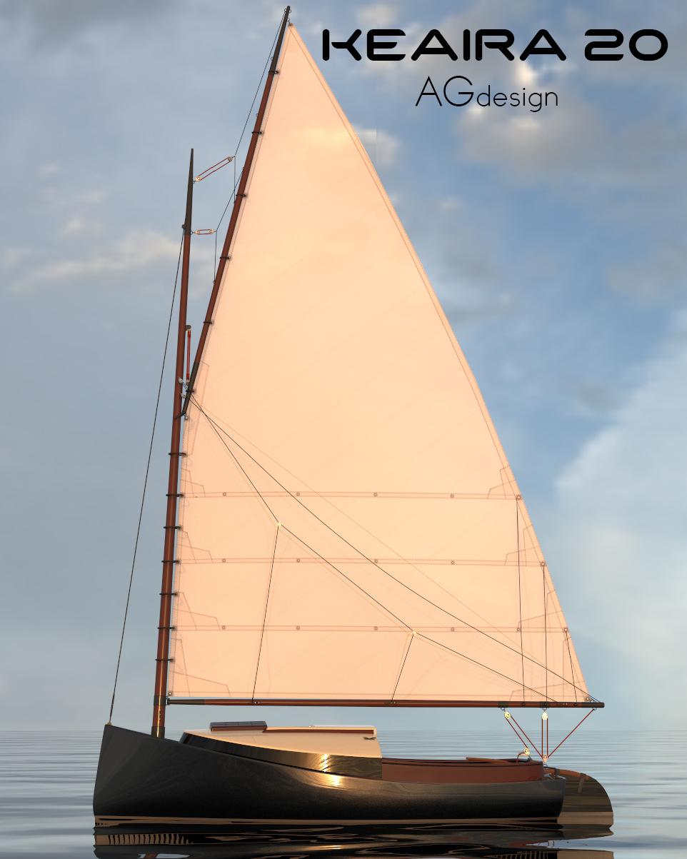 20ft Catboat Keaira Boat Design Net Boat Design Classic Sailboat Rib Boat