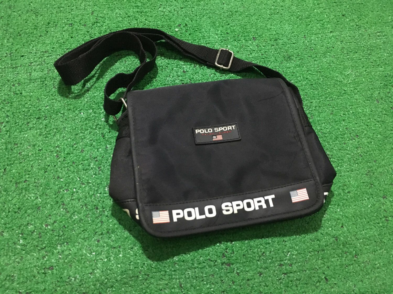 b5198b09897b Vintage 90 s Polo sport ralph lauren Crossbody bag black Polo sport ...
