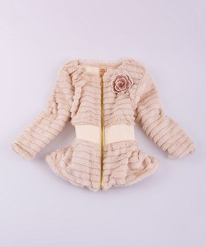 This Mia Belle Baby Cream Faux Fur Jacket - Toddler & Girls by Mia Belle Baby is perfect! #zulilyfinds