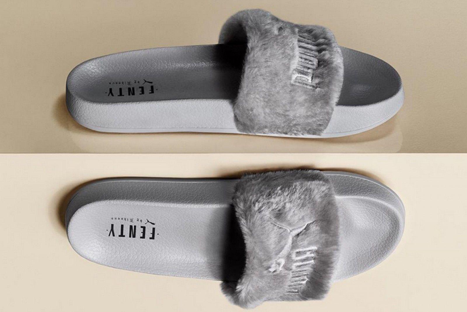 e6fe80cdc637 Puma X Rihanna Fenty Slides Leadcat Fenty Quarry-Puma Silver - 0362266-09