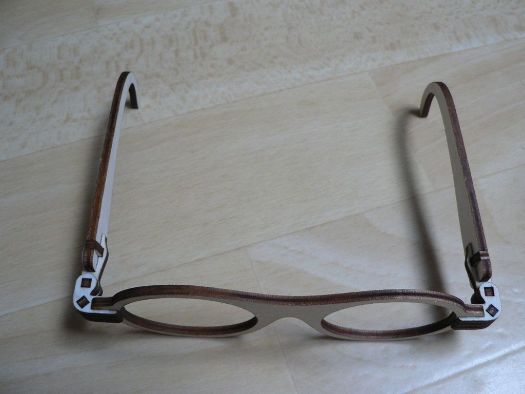 66003e9428 Laser Cut Foldable Wooden Glasses