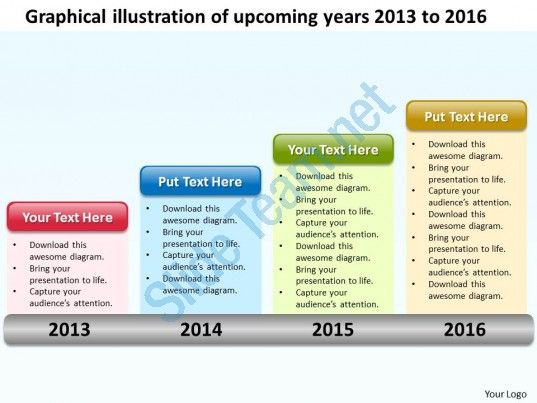 Product Roadmap Timeline Graphical Illustration Of Upcoming Years - Roadmap timeline template ppt