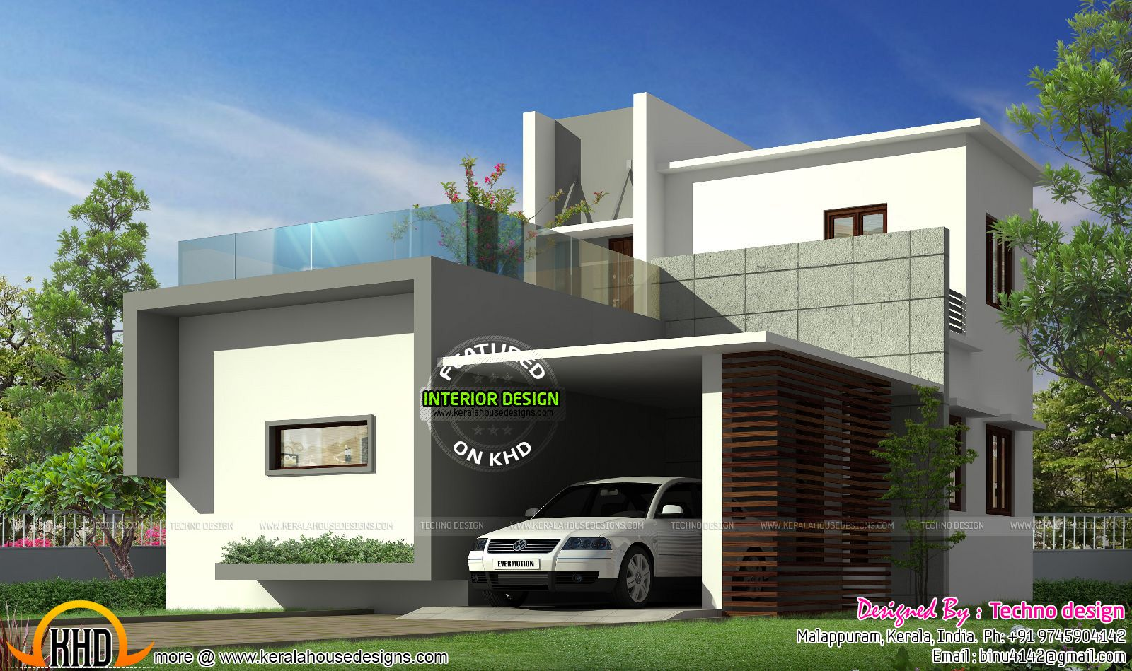 Delightful Contemporary Home Designs At Malappuram Part - 1: Beautiful Small Budget Contemporary House In 1100 Square Feet By Techno  Design, Malappuram, Kerala.