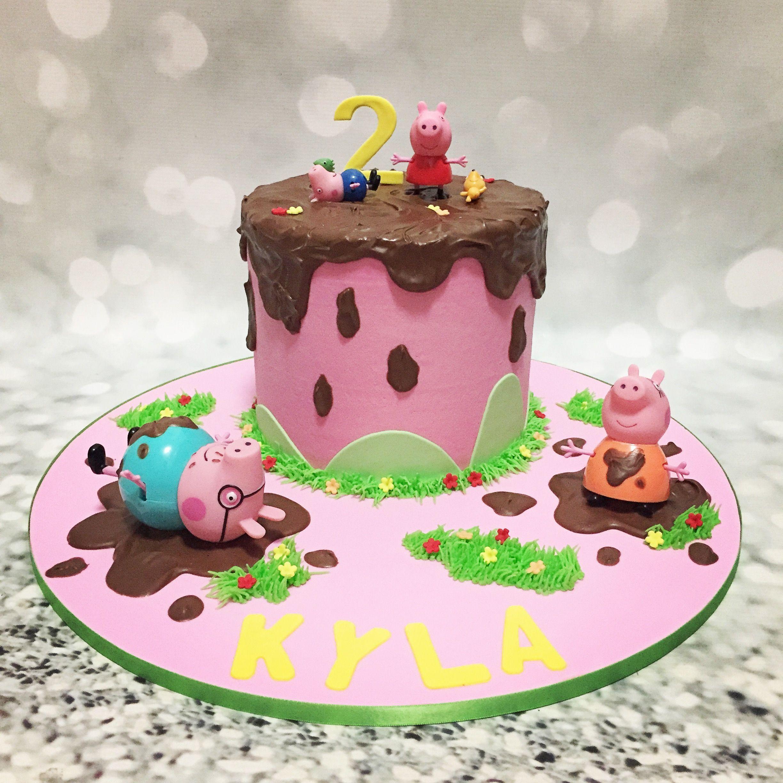 Peppa Pig Cake Muddy Puddles Schweinekuchen Peppa Schwein Kuchen Kinder Kuchen