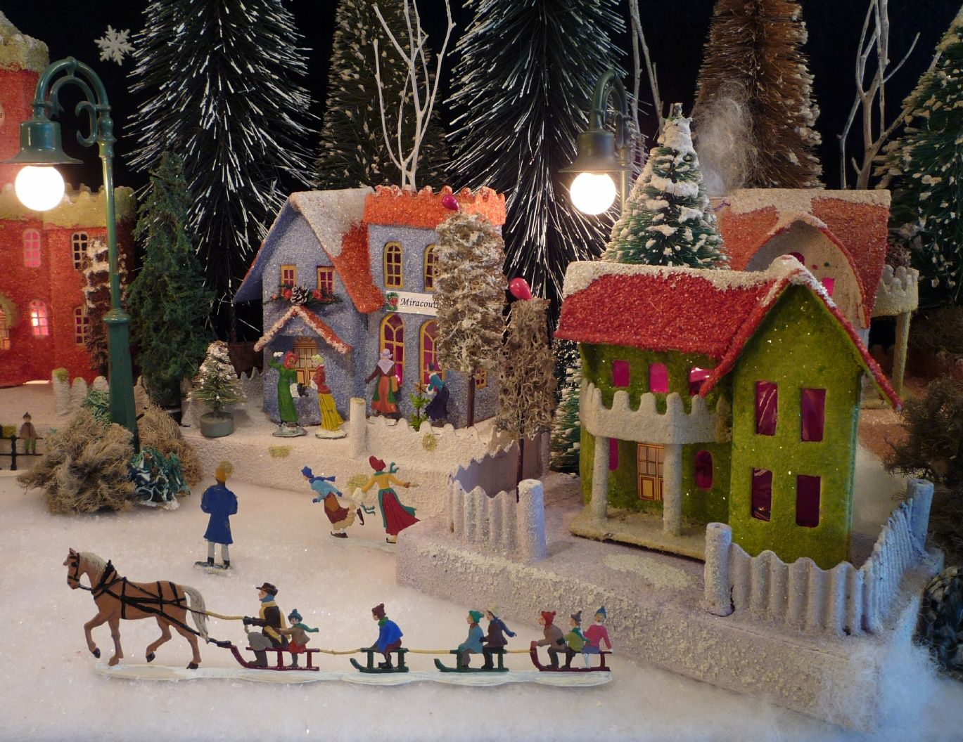 Welcome To Antoinette Stockenberg S Christmas House Page Christmas Village Houses Putz Houses Christmas Shadow Boxes