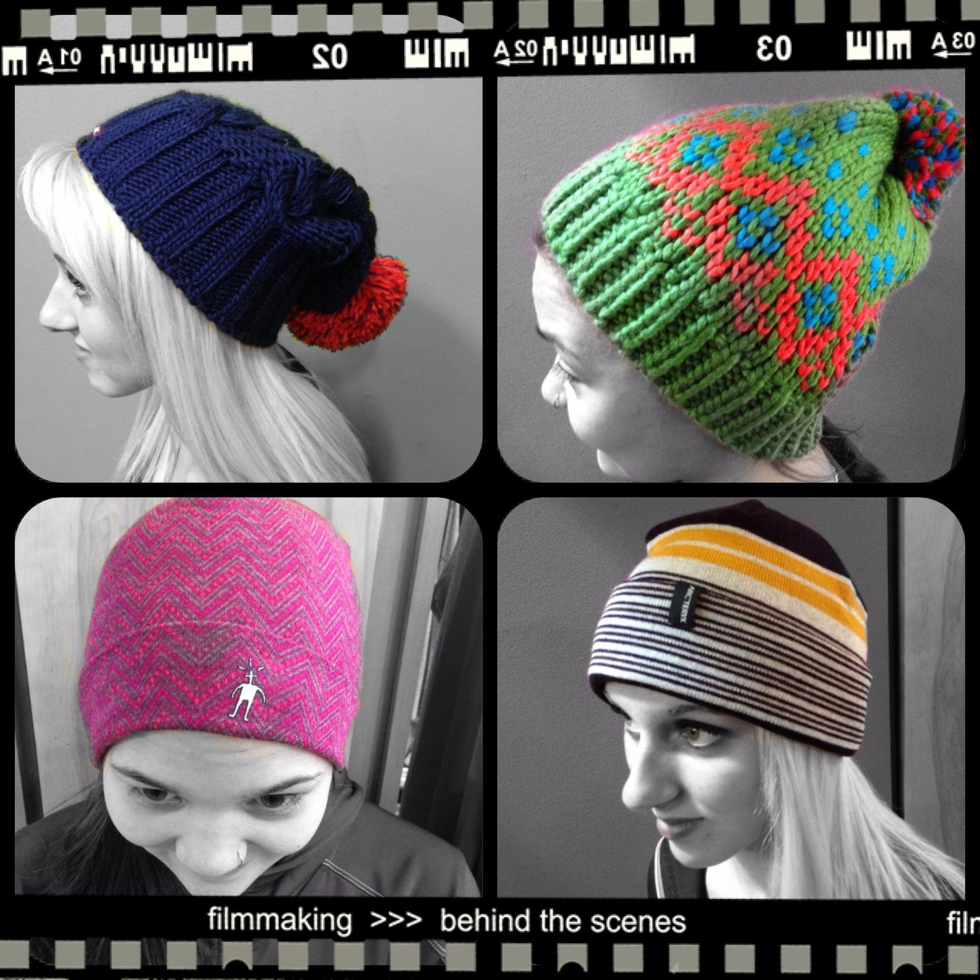 33a0550e New winter hats at Skinny Raven Sports. From top left - Salomon running  Laura Beanie, Salomon Pearl Beanie, Arc'teryx Rolling Stripes Hat and  SmartWool ...