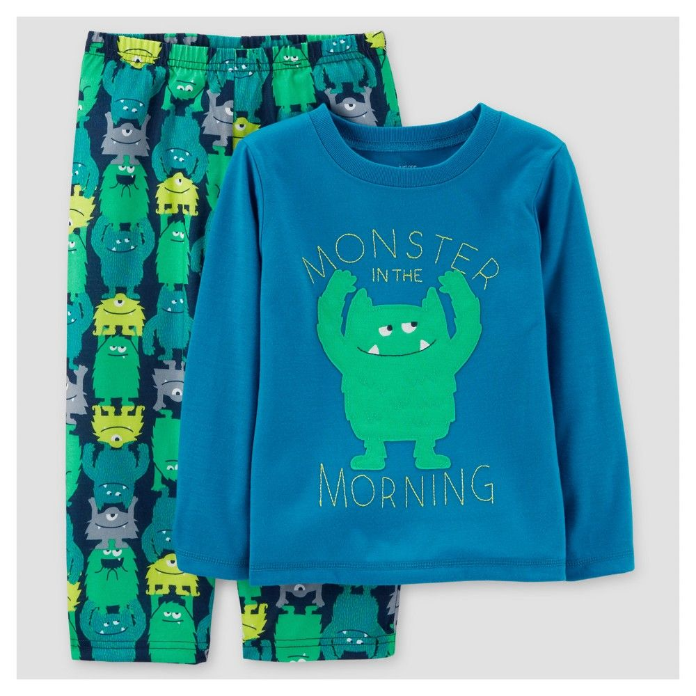 307696c70 Baby Boys  2pc Morning Monster Pajama Set - Just One You Made by ...