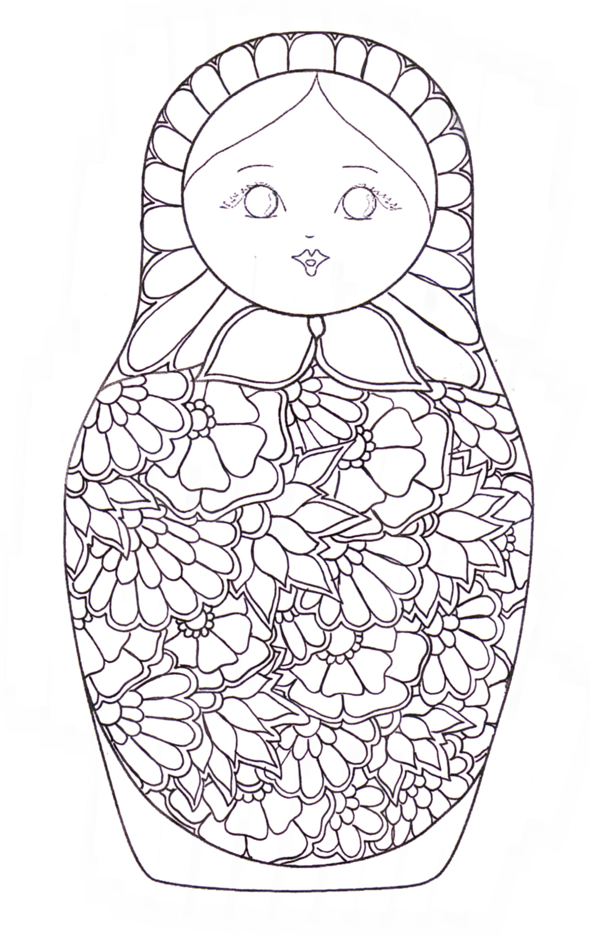 kokeshi dolls coloring pages - 1000 images about icolor kokeshi dolls on