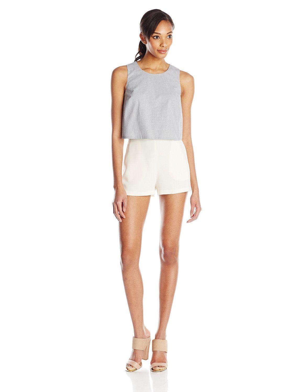 5c58e72f306c Amazon.com  BCBGeneration Women s Popover Romper  Clothing