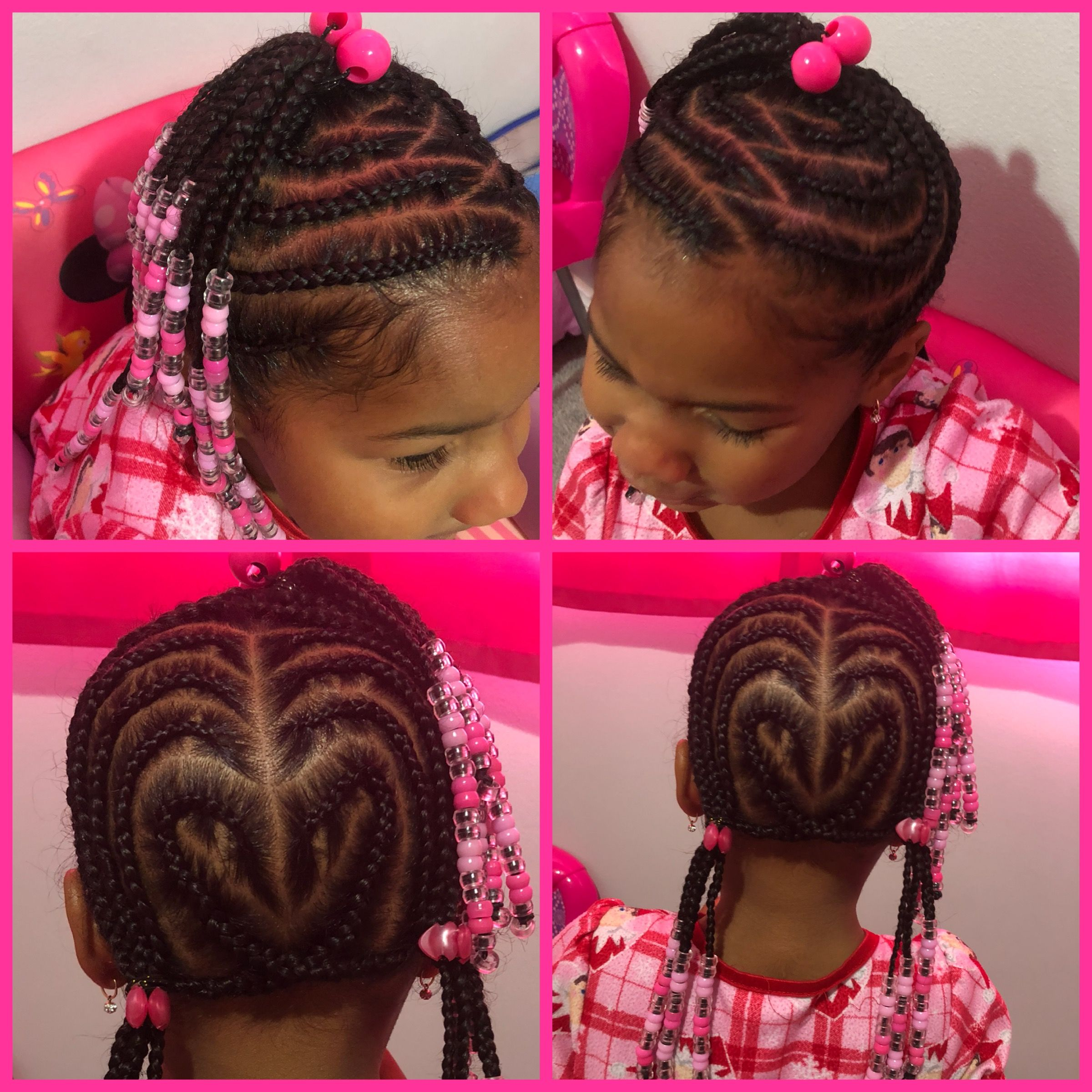 Heart Shape Back Braids Little Girl Braids Braids For Kids