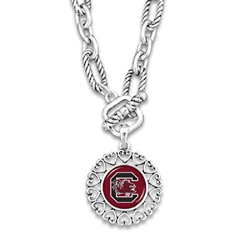 South Carolina Gamecocks Silver Tone Necklace With Round ... https://www.amazon.com/dp/B06WV9657C/ref=cm_sw_r_pi_dp_x_hTfSybM0ZYR44
