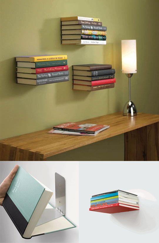 Estanterías invisibles para libros Estantería invisible