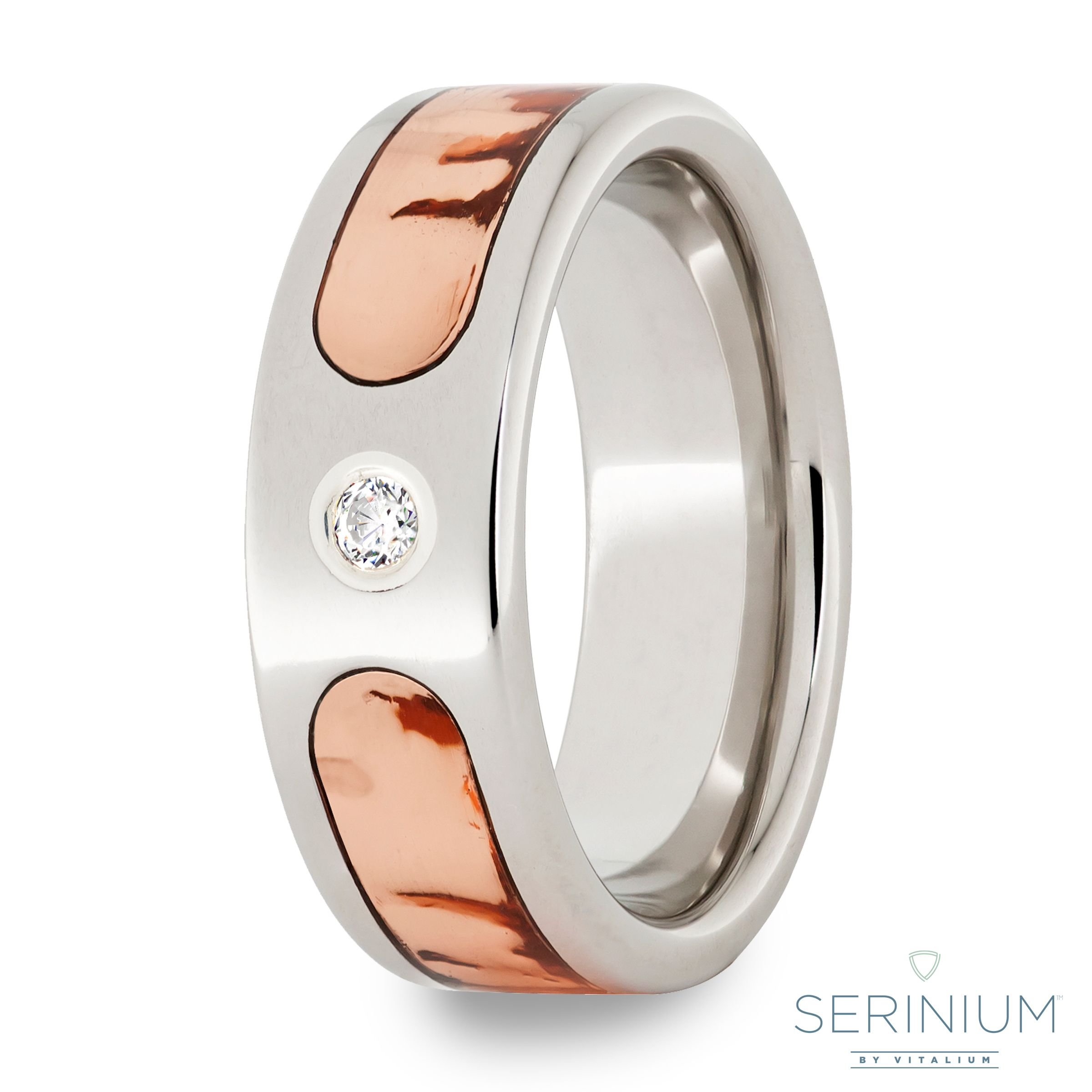 Serinium Band With Copper Virginia Inlay, .06R CZ