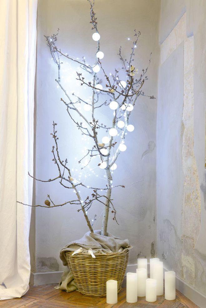 un arbre de no l diy fabriquer avec des branches d 39 arbre no l deco noel decoration noel. Black Bedroom Furniture Sets. Home Design Ideas