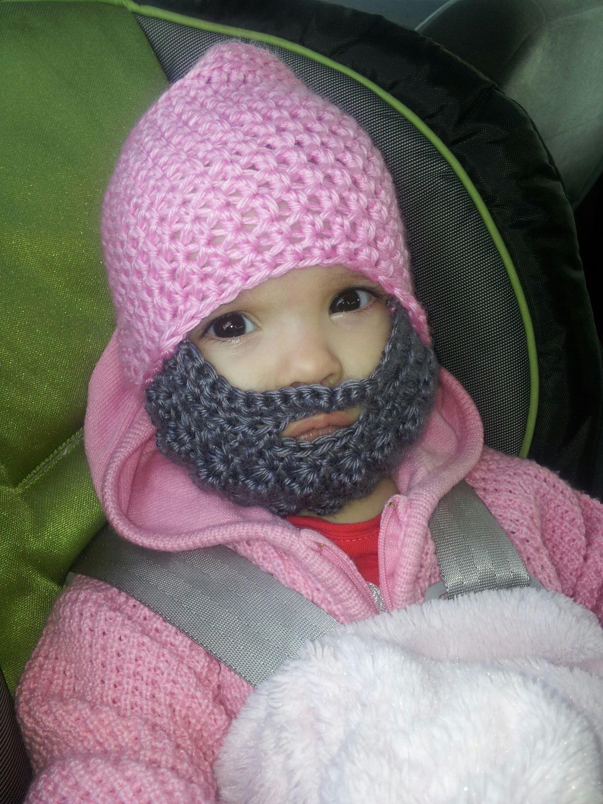 Crochet Pattern For Baby Hat With Beard : Crochet baby beard hat Knitting & Crocheting Pinterest